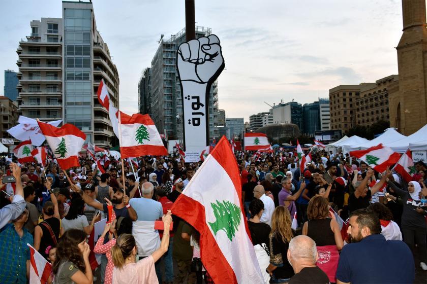 Lübnan'ın bir çok kentinde ekonomik durum protesto edildi