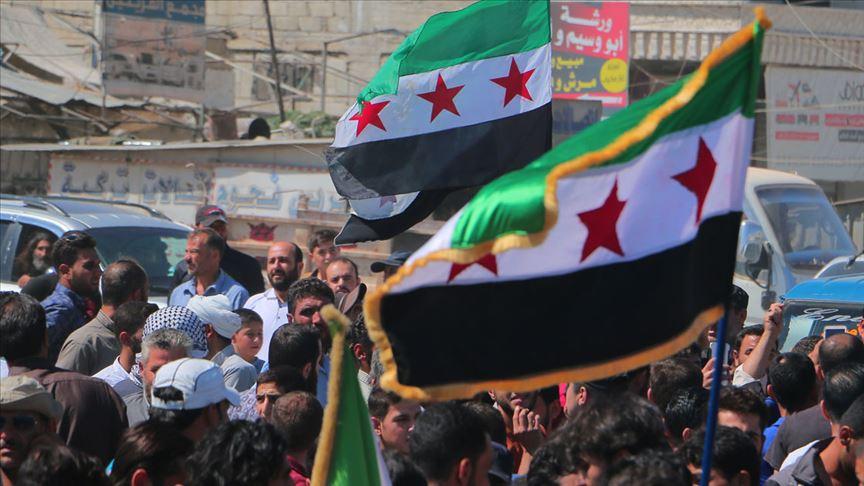 İdlib'de Rusya, Çin ve Esed protesto edildi