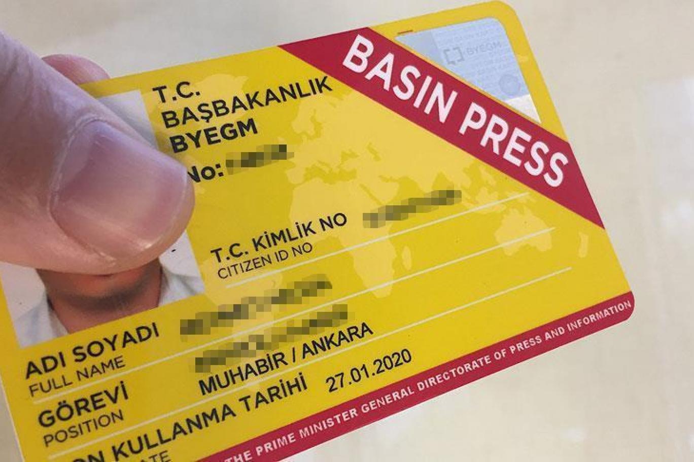 685 gazetecinin kartı iptal edildi