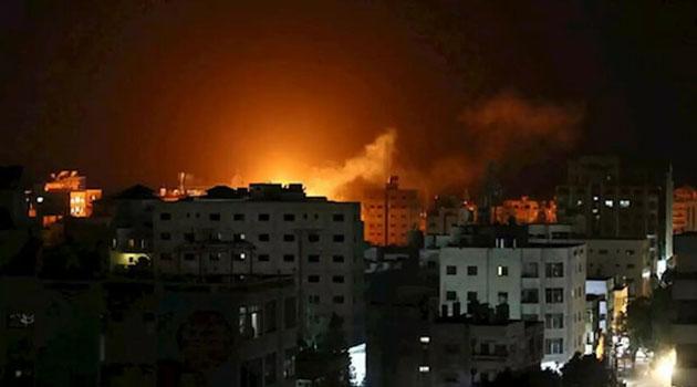 İşgalci İsrail'den Hamas'a saldırı