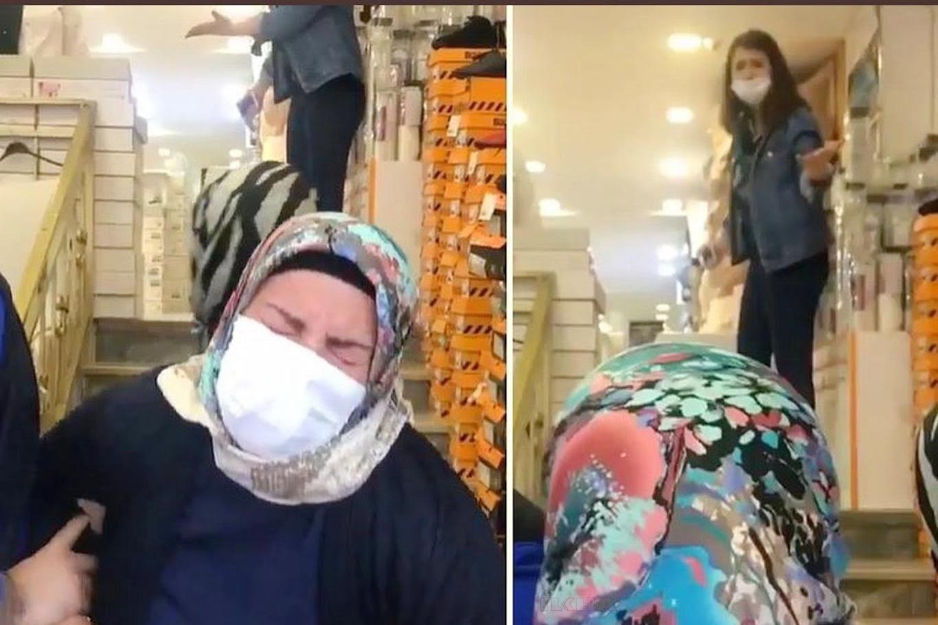 Ayakkabı mağazasında annesini dövdüğü iddia edilen kıza tepki yağdı
