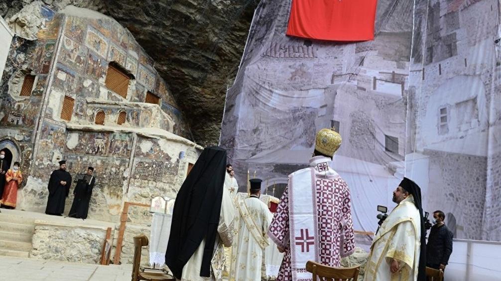 Sümela Manastırı'nda ayin başladı!