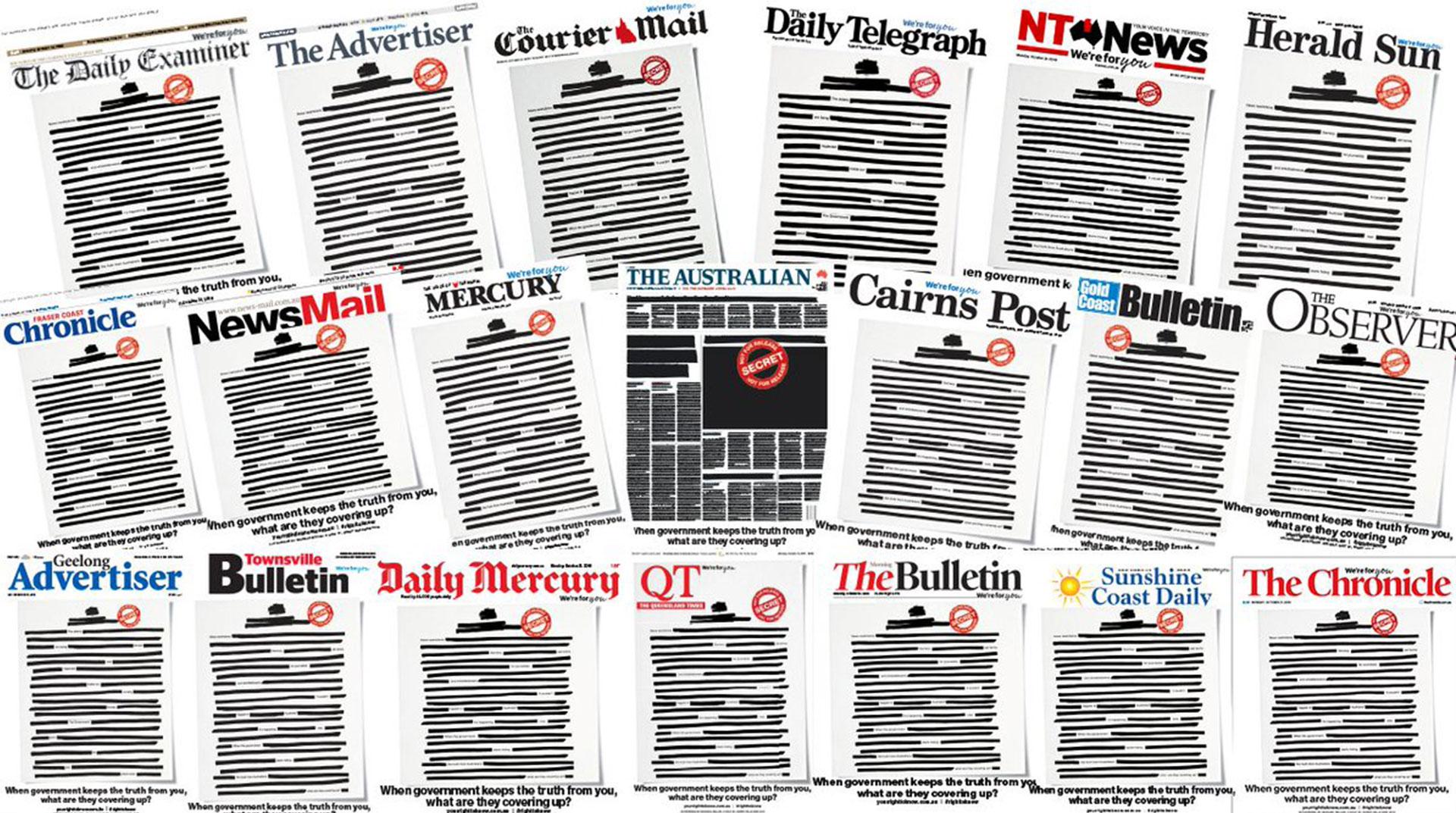 Avustralya'da Hükümete Tepki: Gazeteler İlk Sayfalarını Kararttı