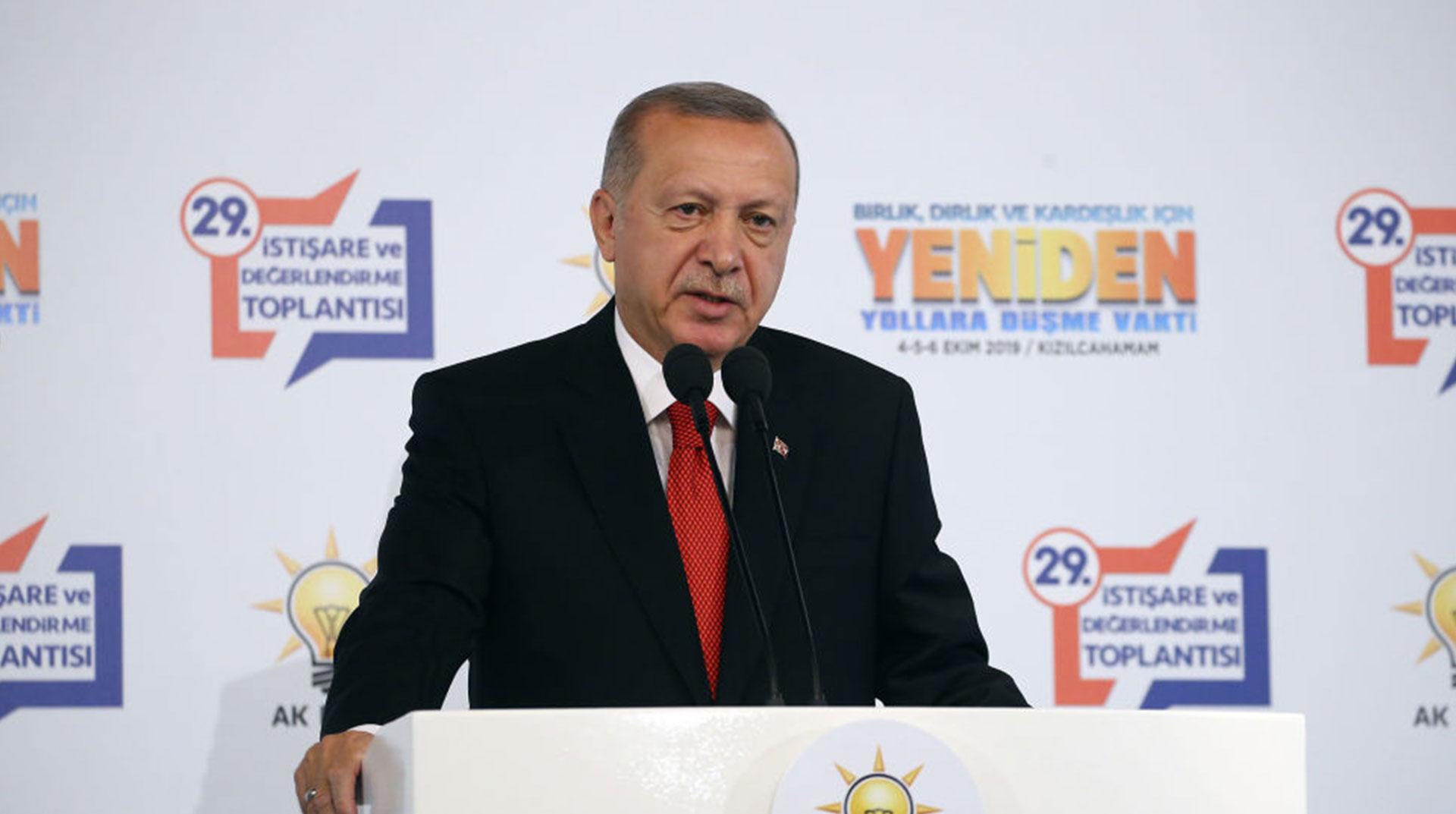 Erdoğan, Partisinin İstişare ve Değerlendirme Toplantısı'nda Konuştu