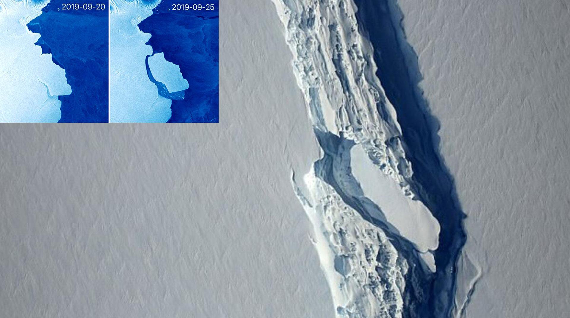 Son 50 Yılın En Büyük Buz Dağı Kopması Yaşandı