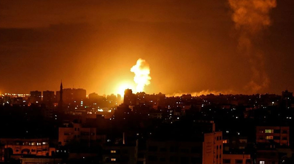 İşgal Yönetimi Yine Gazze'yi Bombaladı