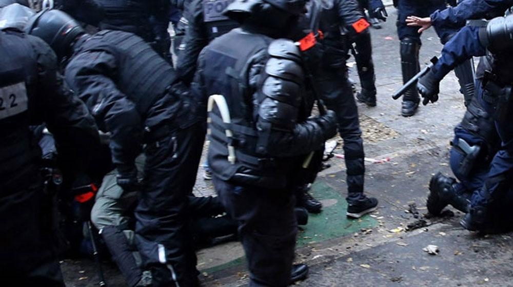 Polis Şiddetine Karşı Olaylı Gösteri! Arbede Yaşandı