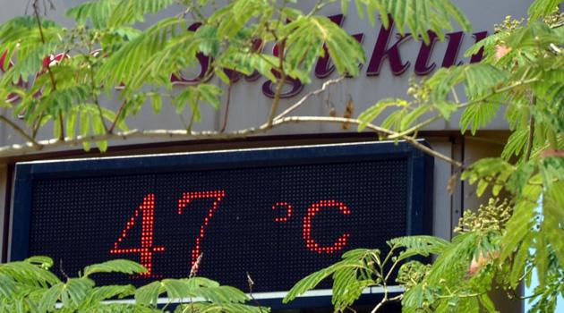 Adana'da termometreler 47 dereceyi gördü