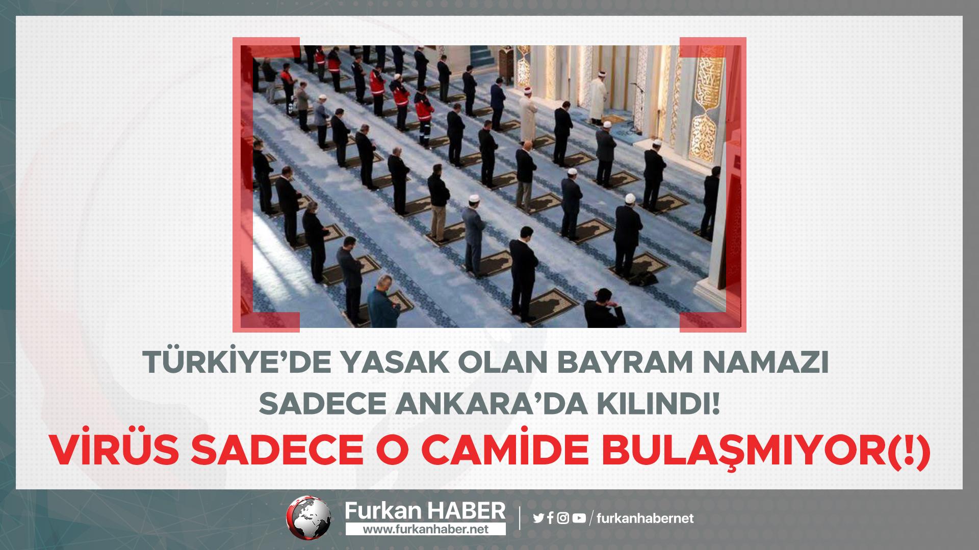 Türkiye'de yasak olan Bayram namazı sadece Ankara'da kılındı!