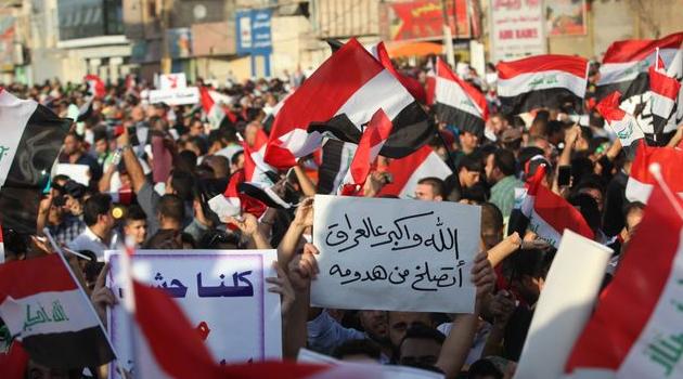 Bağdat'ta hükümet karşıtı gösteriler sürüyor