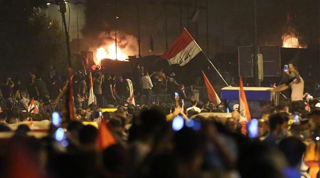 Bağdat'ta gösterilere sert müdahale: 6 ölü