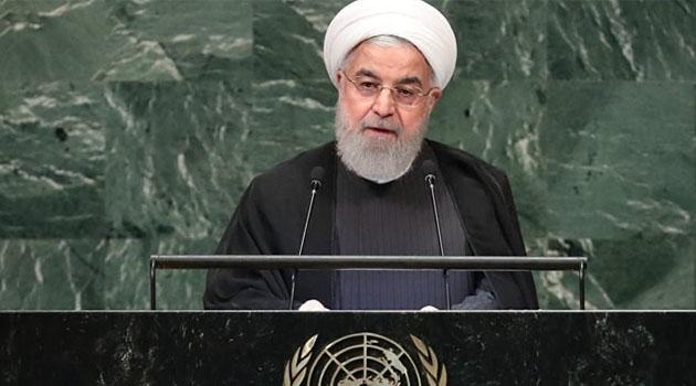 Ruhani BM'de konuştu: Baskı altında ABD ile müzakereleri kabul edemeyiz