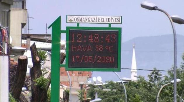 Bursa'da 75 yılın sıcak rekoru