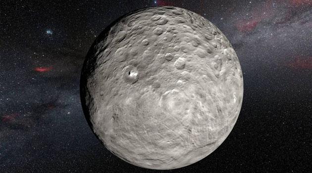 Cüce gezegen Ceres'te geniş bir tuzlu su rezervi keşfedildi