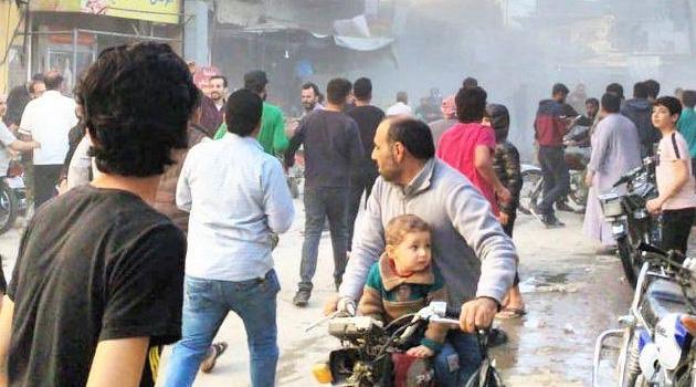 MSB: El Bab şehir merkezindeki bombalı terör saldırısında biri ağır en az 11 masum sivili yaralandı