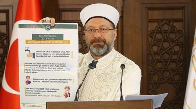 Erbaş: Kur'an kurslarımız iki hafta süreyle tatil edilmiştir