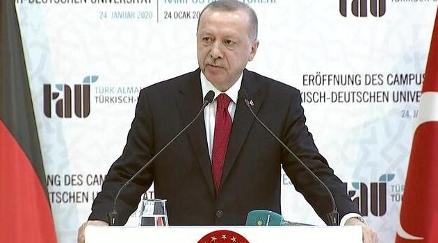 Erdoğan: Uluslararası toplumun Suriye'de düştüğü hataya Libya'da düşmemesini temenni ediyoruz