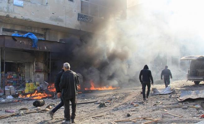 Zalim Esed rejiminin İdlib bölgesinde hava saldırıları sürüyor: 9 ölü 14 yaralı