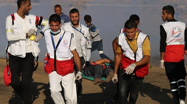 İşgal askerleri Gazze sınırında 69 Filistinliyi yaraladı