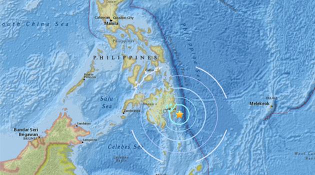 Filipinler'de 5.9 büyüklüğünde deprem