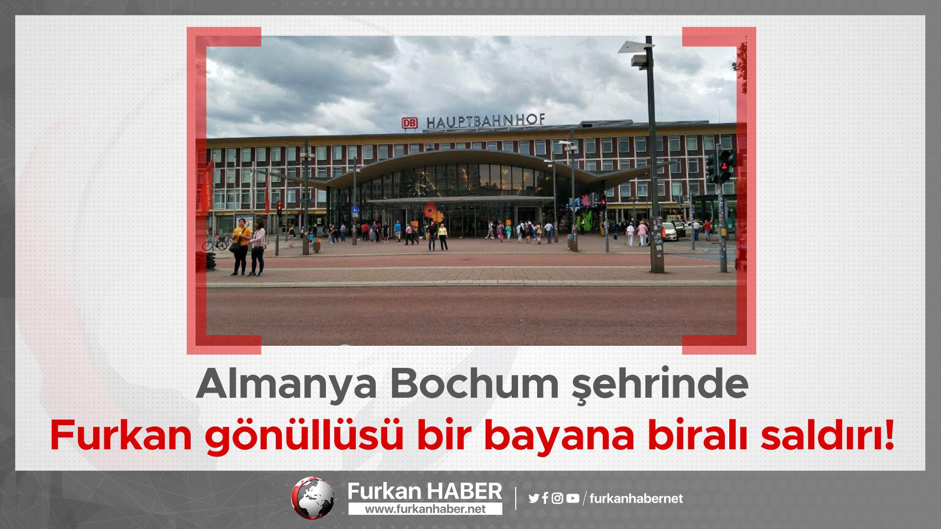 Almanya Bochum şehrinde Furkan gönüllüsü bir bayana biralı saldırı!