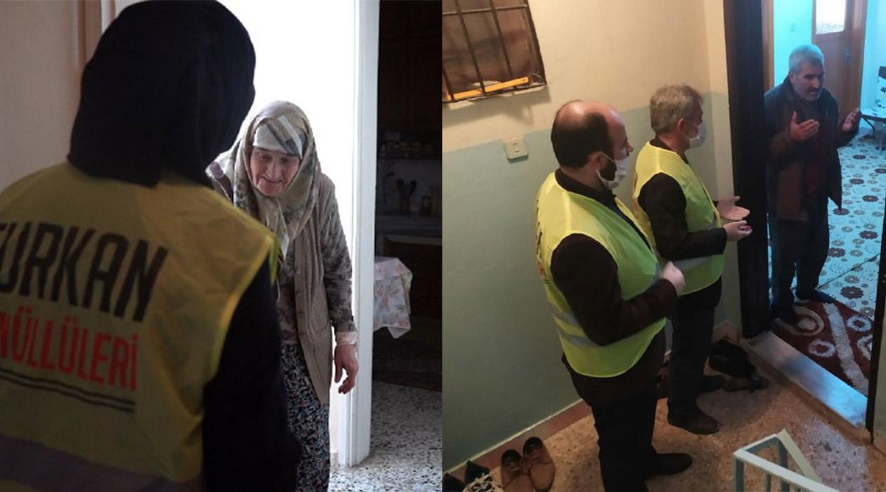 Sokağa Çıkamayan Yaşlılara Furkan Gönüllülerinden Destek
