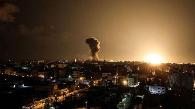 İşgalci İsrail'den Gazze'ye hava saldırısı düzenledi