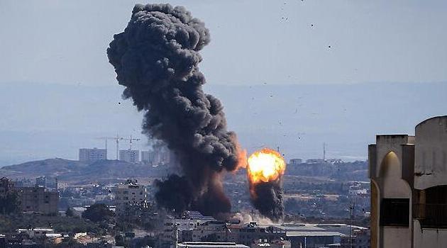 Gazze'den Siyonist İsrail'e 20 roket atıldı