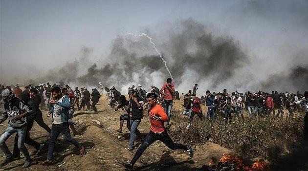 Gazze'deki büyük dönüş yürüyüşü gösterileri ertelendi