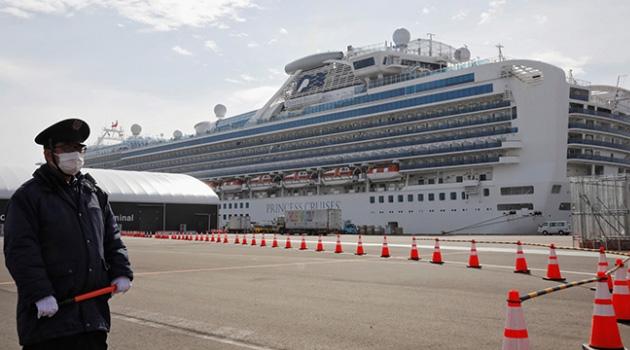 Japonya'daki gemide 67 kişide daha koronavirüs çıktı