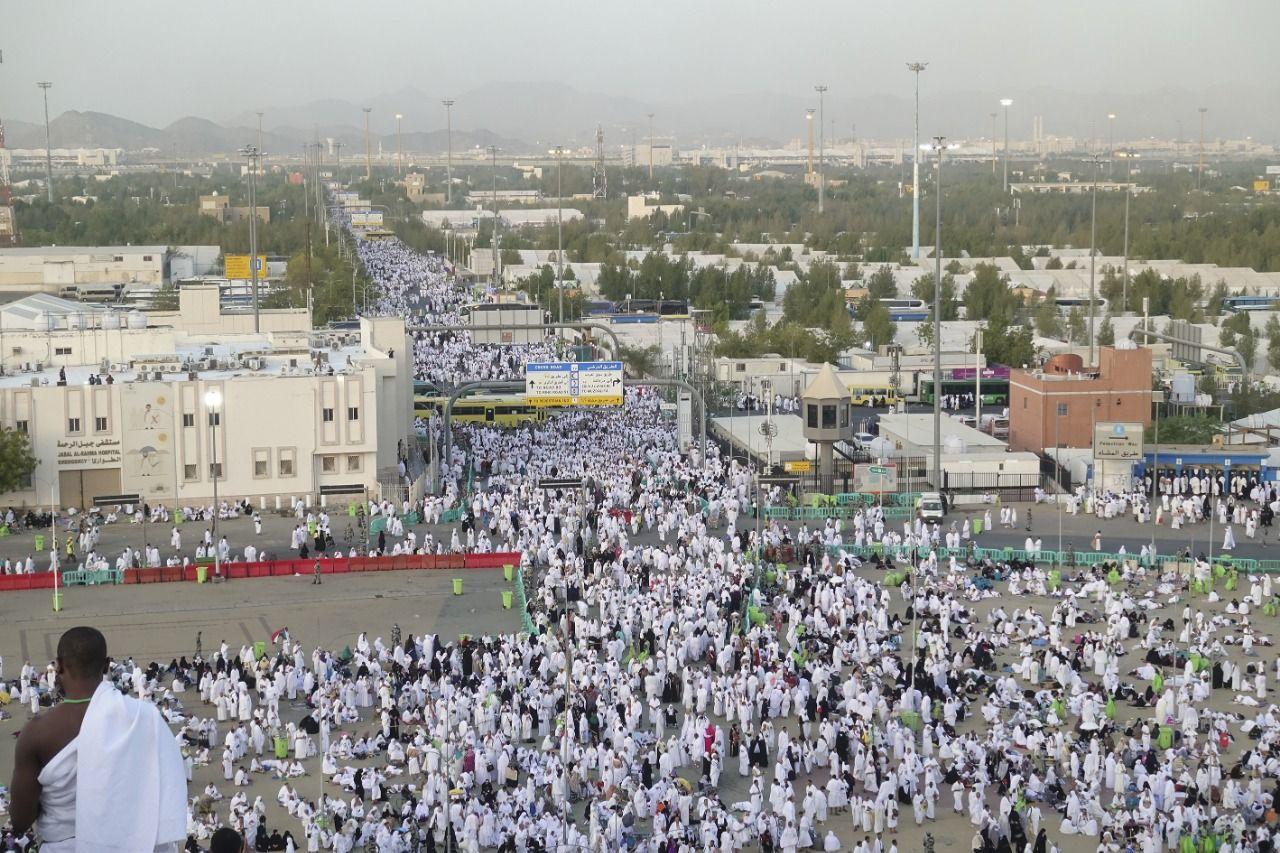 Hacı adayları Arafat'ta