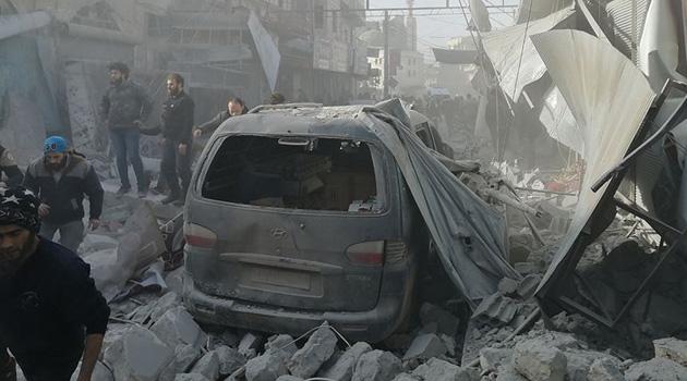 Rus savaş uçakları Halep'i vurdu: Çok sayıda ölü ve yaralı var