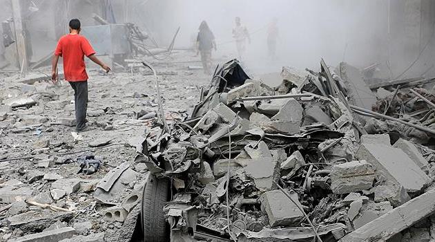 Esad rejiminden Halep'e saldırı: 1 ölü