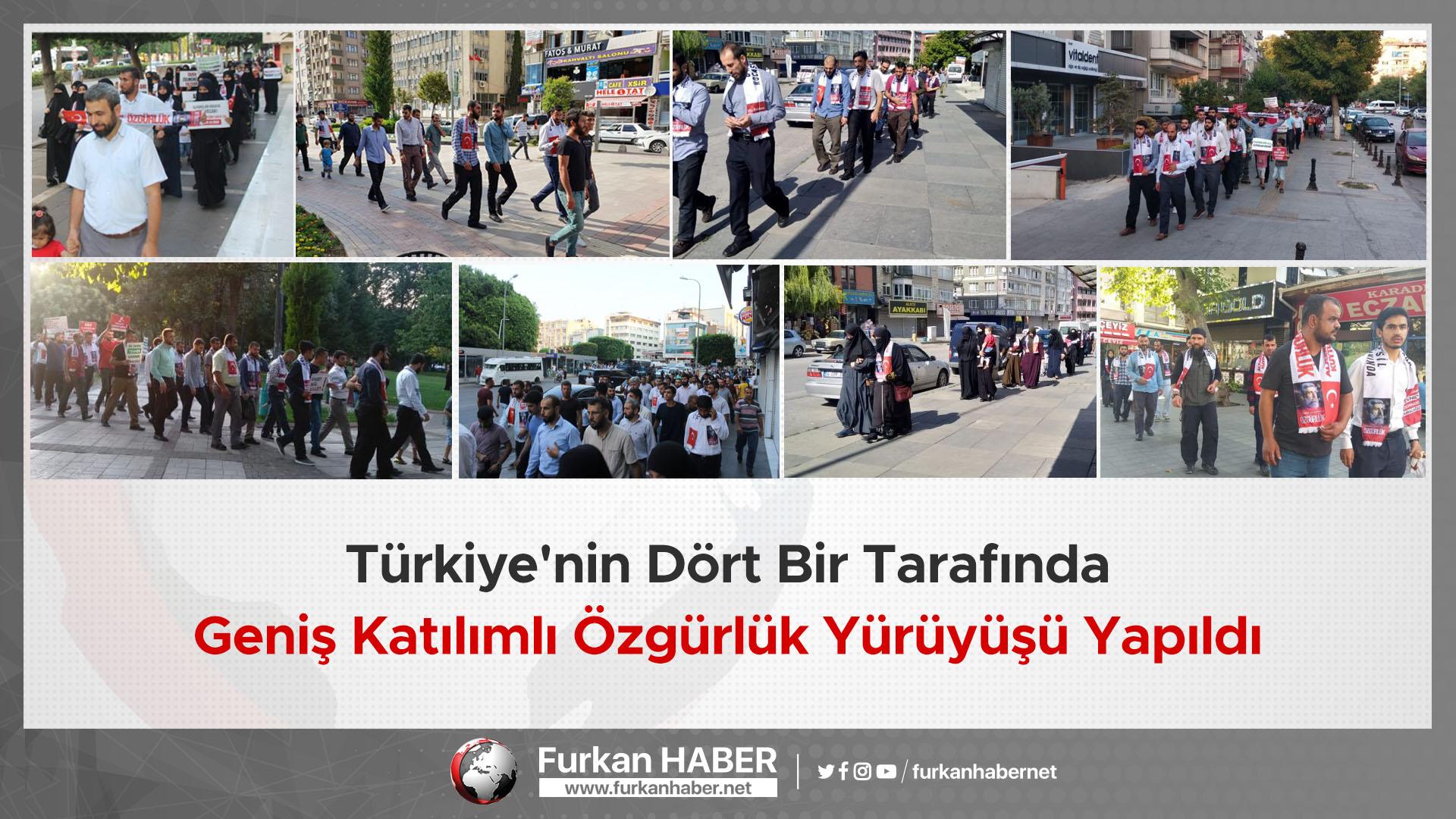 Türkiye'nin Dört Bir Tarafında Geniş Katılımlı Özgürlük Yürüyüşü Yapıldı