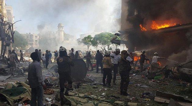 Zalim Esad rejimi İdlib'in güneyini vurdu: 1 ölü, 7 yaralı