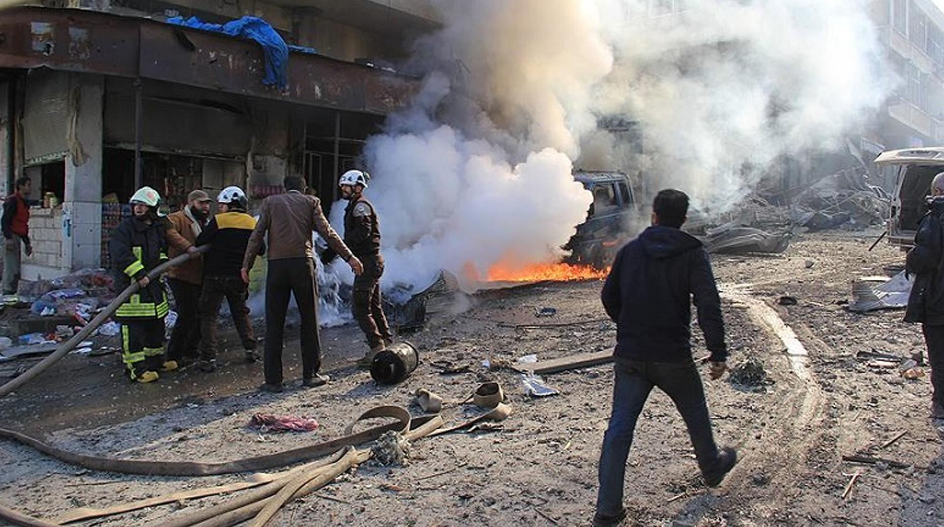 Esed Rejimi İdlib'de 5 Sivili Katletti