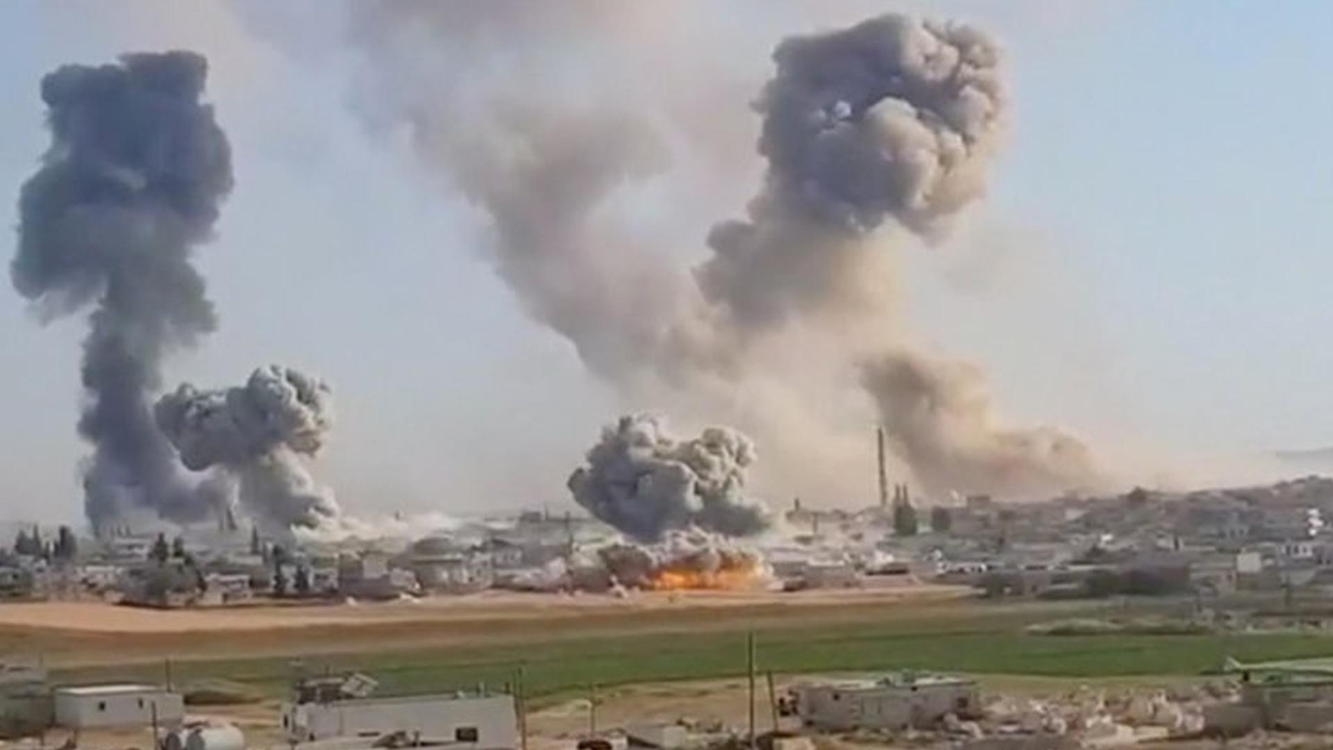Rusya İdlib'i Bombalamaya Devam Ediyor!