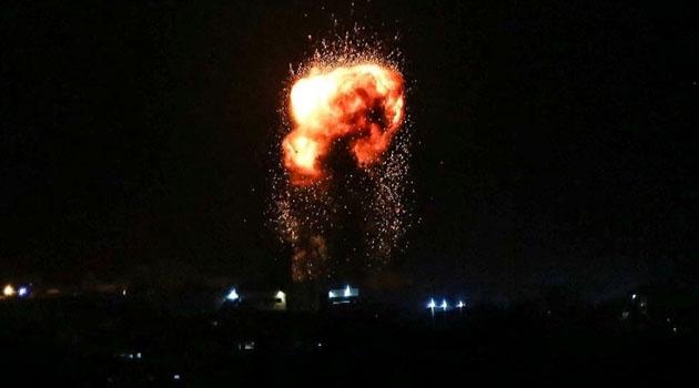 İşgalci İsrail Gazze'yi bombaladı!