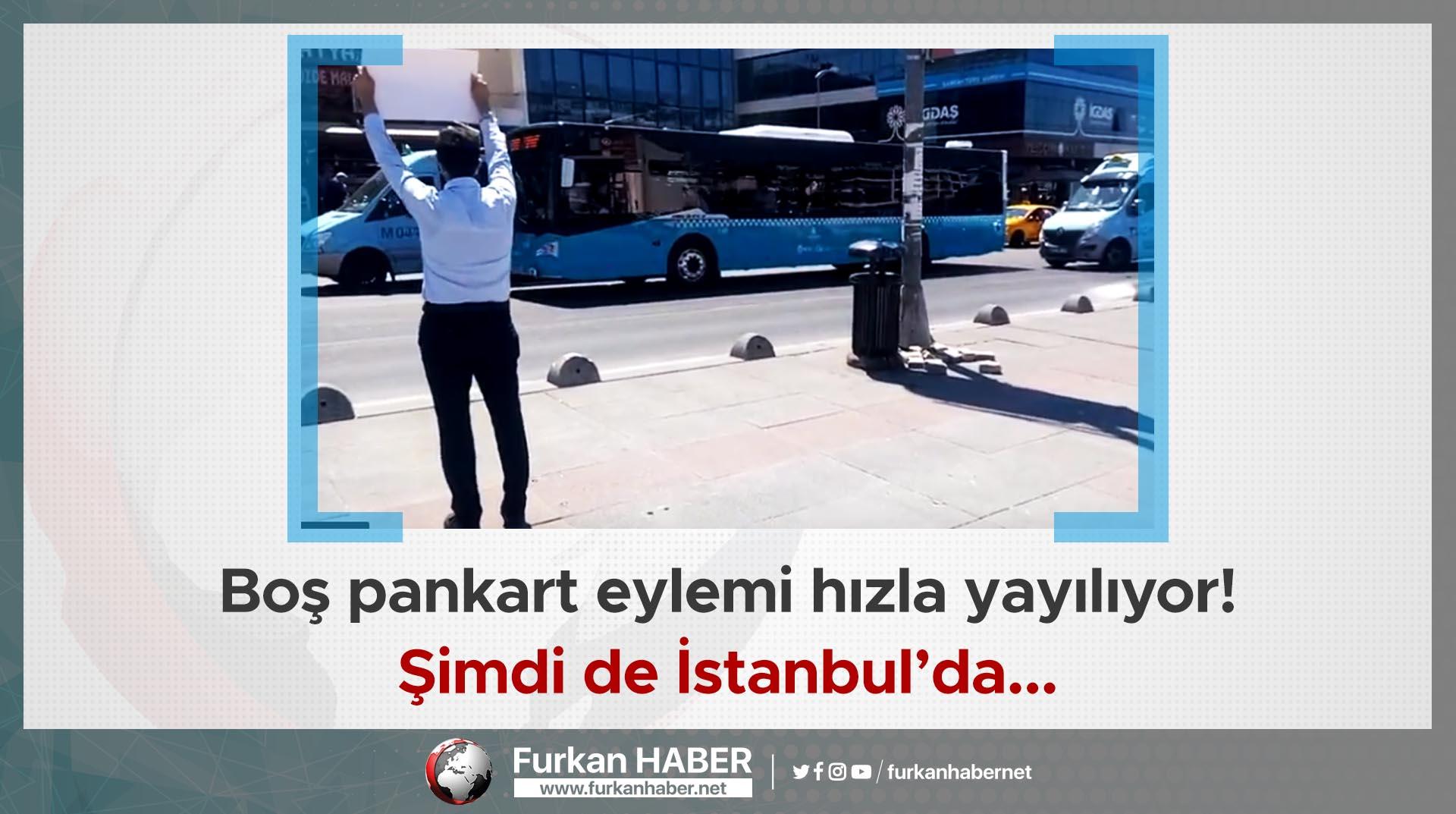 Boş pankart eylemi hızla yayılıyor! Şimdi de İstanbul'da...