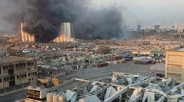 Lübnan'ın başkenti Beyrut'ta şiddetli patlama: En az 25 kişi hayatını kaybetti!