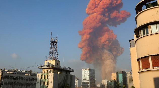 Lübnan'ın başkenti Beyrut'ta şiddetli patlama!