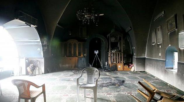 İşgalciler Kudüs'te Bir Camiyi Ateşe Verdi