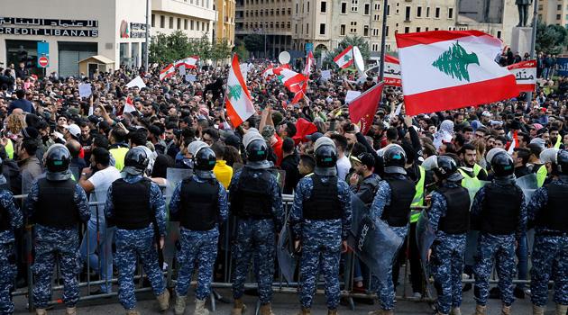 Lübnan'daki gösterilerde 10 kişi yaralandı