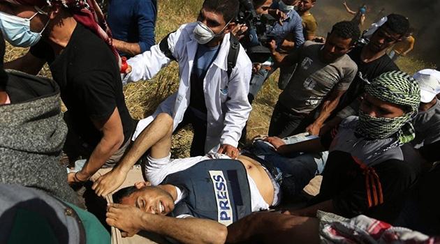 Siyonistler 2019'da 760 Filistinli Gazeteciyi Yaraladı