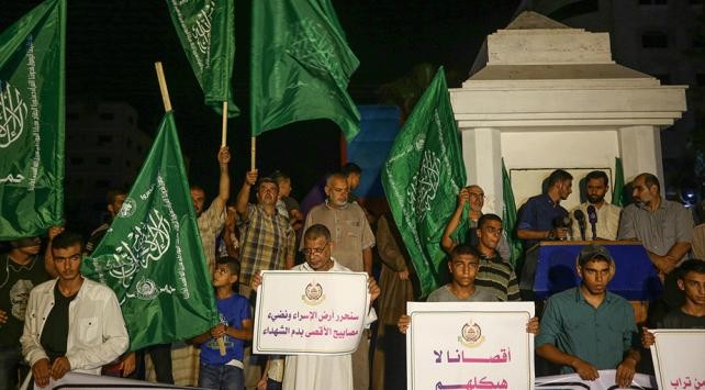 Gazze'de İsrail'in Mescid-i Aksa Baskını Protesto Edildi