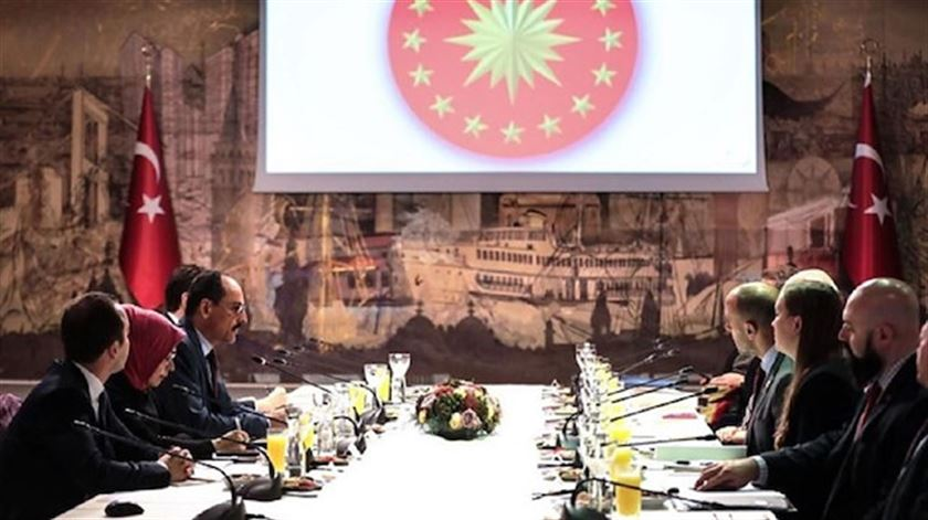 Kalın'dan ABD Temsilciler Meclisi heyeti ile Suriye görüşmesi
