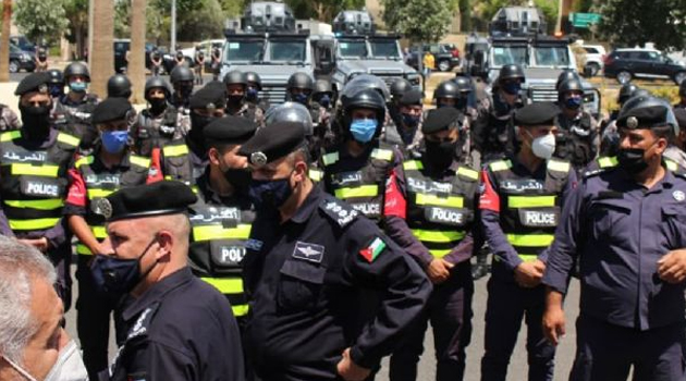 Ürdün polisi ABD Büyükelçiliği önünde İşgalci İsrail'in ''ilhak'' planı protestosuna izin vermedi