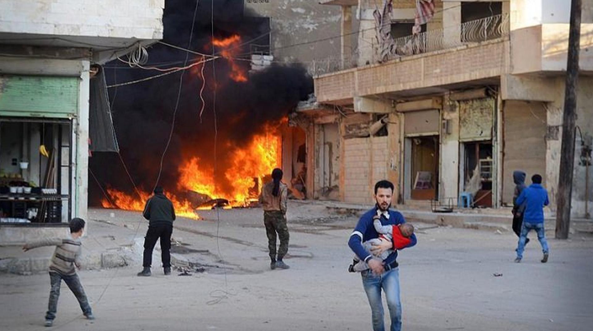 Zalim Esad rejiminden İdlib'e saldırı