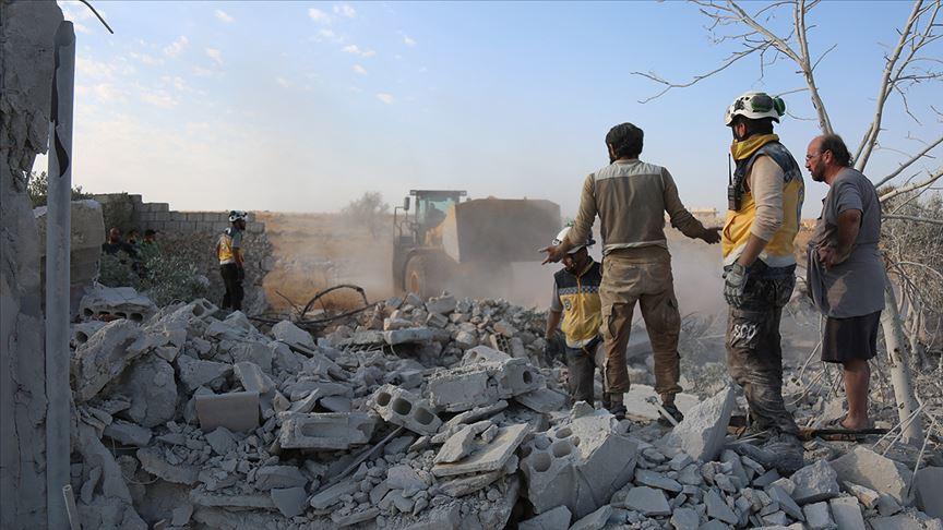 İdlib'e yönelik hava saldırılarında 2 çocuk daha yaşamını yitirdi