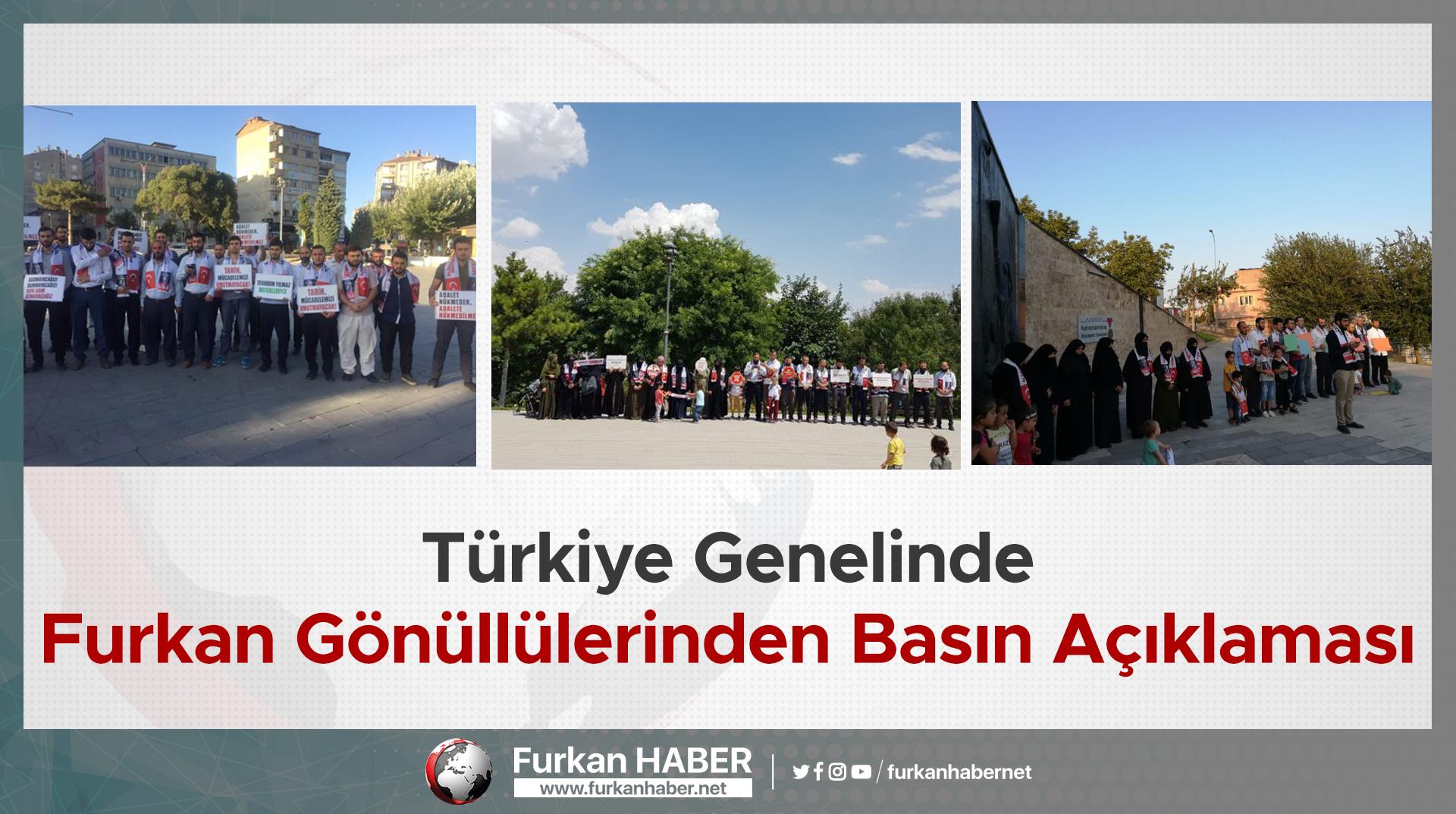 Türkiye Genelinde Furkan Gönüllülerinden Basın Açıklaması
